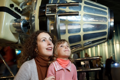 In an astronautics museum in the game form acquaint children wit
